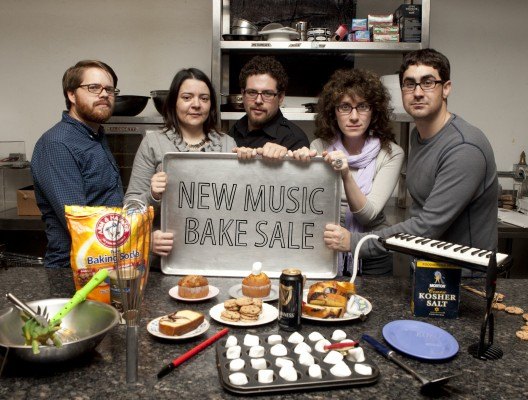 Bake Sale Committee (L-R): Ross Marshall, Eileen Mack, David T. Little, Lainie Fefferman, Matt Marks